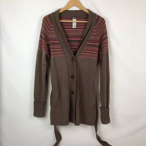 Patagonia Cardigan Button Front Belted Sweater